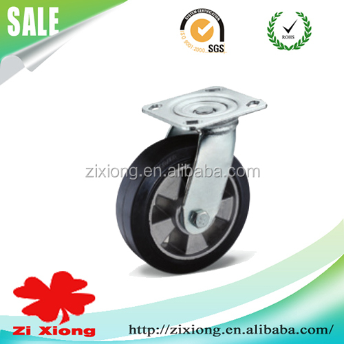 150mm Rigid fixed Rubber Caster wheels with ball bearing