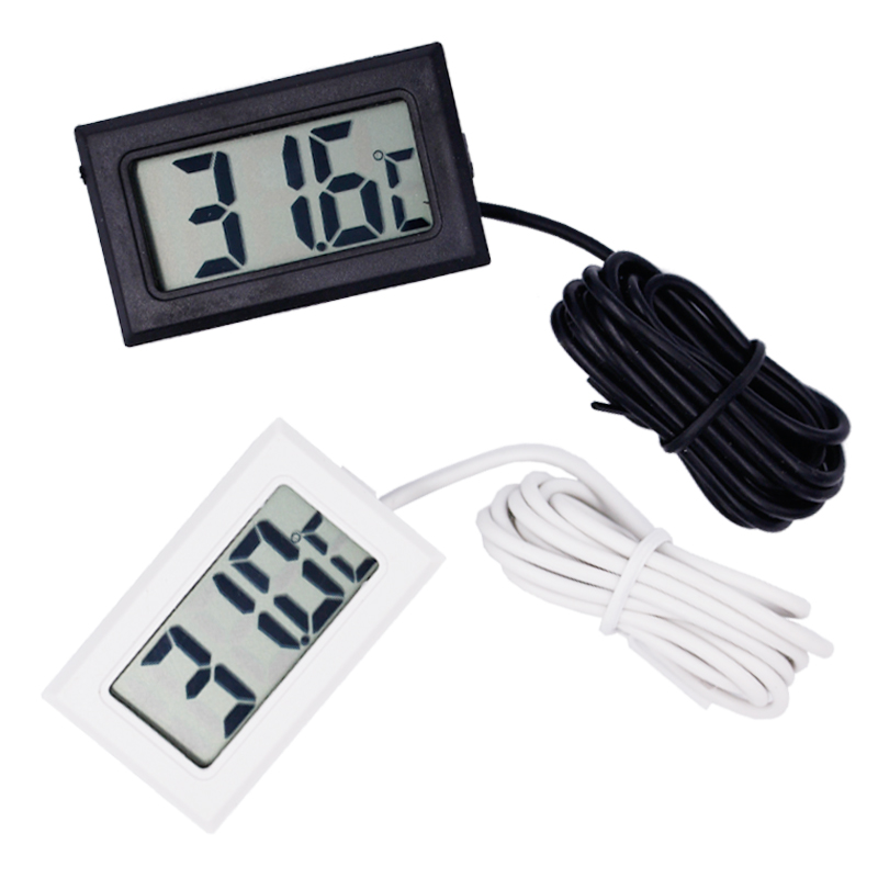 Professinal Mini Digital LCD Probe Aquarium Fridge Freezer Thermometer Thermograph Temperature Meter for Refrigerator -50~ <strong>110</strong> <strong>D</strong>