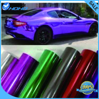 Purple Chrome Vinyl Car Wrap Sticker Decal Sheet Film Air Bubble Free
