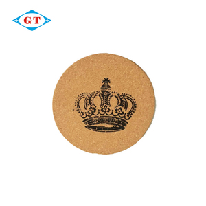 Round custom drink cork coaster for gift