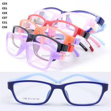 durable high classic pupil TR90 prescription glasses rectangle frame flexible removeable hingless temple for kid 1106