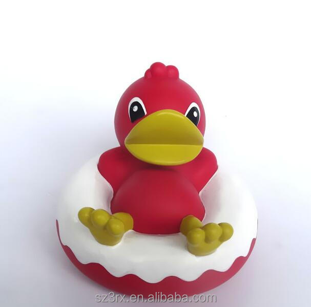 CUSTOM child bath toy/pvc vinyl toy for kids/cartoon duck vinyl bath toy customized