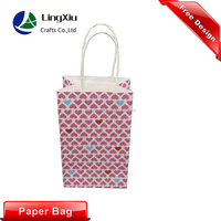 2015 new design kraft gift paper packaging bag with paper handle