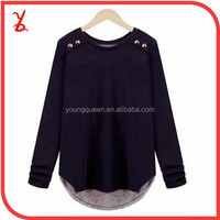 FR03 Women Europe and America Autumn long-sleeved t-shirt big yards thin bottoming shirt
