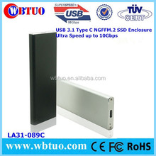 ODM OEM NGFF M.2 SSD to USB3.1 hard drive case