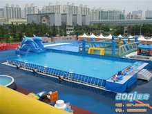 Rectangular Metal Frame adult inflatable swimming pool for sale