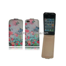stylish colorful lady pu leather flip phone case cover for iphone4 4S factory wholesale