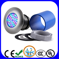 V105S 304 stainless steel AC12V RGB led pool light for vinyl pool