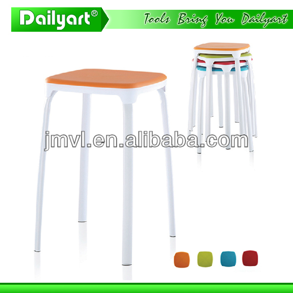 (V052007) Colourful kitchen living room leather tripod stool