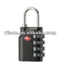 4-Dial TSA Lock Reset luggage Combination Lock