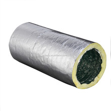 air conditioning fiberglass insulated flexible duct with clamps