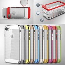 clear brush pattern PC mobile phone case for apple iphone 7 accept paypal