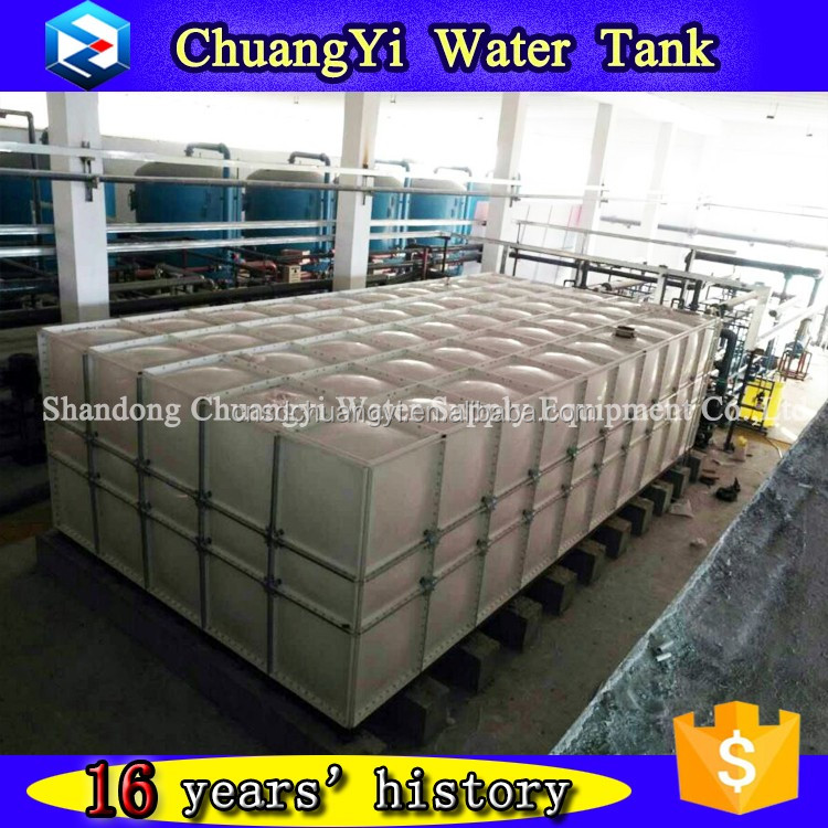 Drinking and irrigation FRP sectional water tank, panel FRP water storage tank