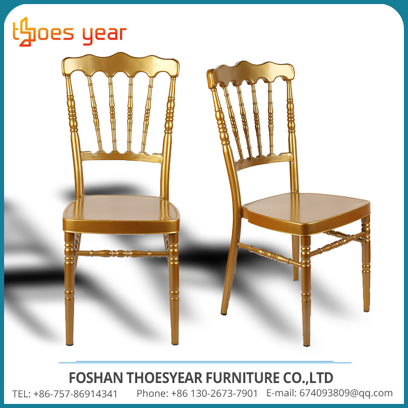High quality golden royal hotel chairs banquet equipment