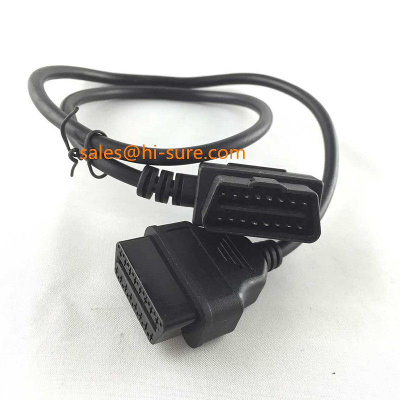 OBD2 connector Male to Female Extension Flat cable for OBD2 scanner