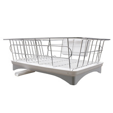 Double Tier Metal Kitchen Dish Rack Dish Drying Rack