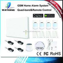 2015 Newest White Wireless GSM Home Alarm System Kit G1 With Smoke Detector/Gas Detector Support IOS And Android APP