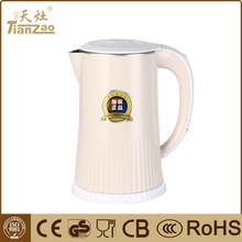 Hot sale 2.0L double wall stainless steel electric kettle with CE