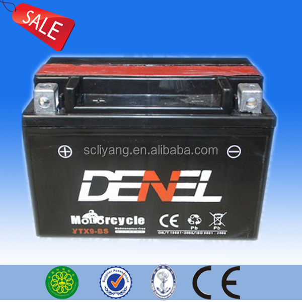 Motorcycle Maintenance Free Motor Parts Battery YTX9-BS attractive