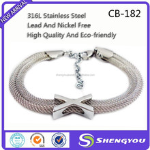 Lobster Clasp Stainless Steel Snake Chain x Bracelet