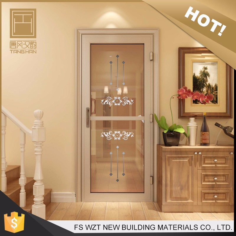 Hot sale beautiful decorative vented waterproof soundproof modern aluminium interior door