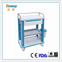 BS - 623 Medication Carts Rolling Medical Treatment Cart For Nurse