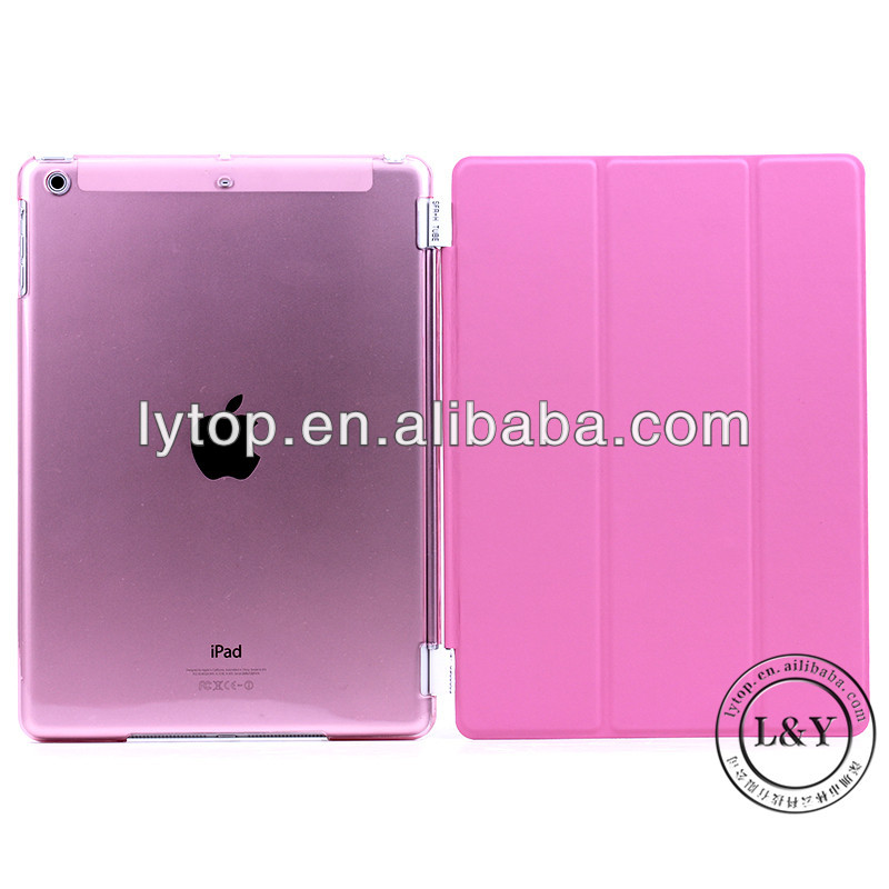 For iPad 5 Smart Cover Case+ Transparent Case