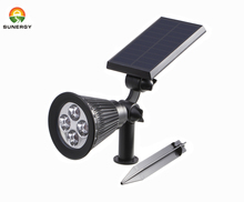 Solar Power LED Garden Spotlight - Pure White 6500K - Outdoor Spot Light Great for Landscaping, Trees, Bushes