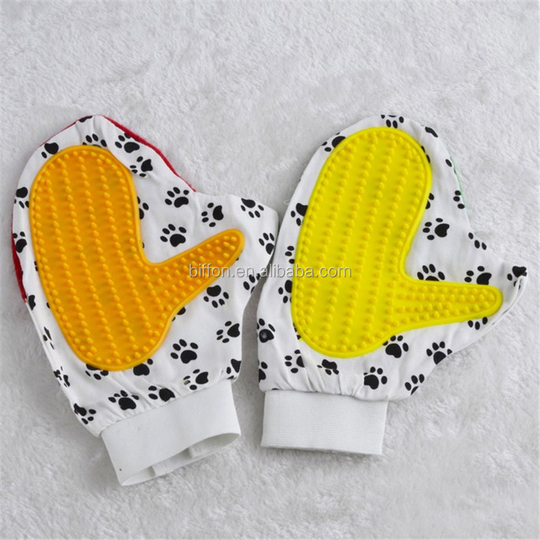 Factory quality Deshedding tool pet grooming deshedding glove dog hair cleaning glove deshedding tool for pets