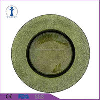 Wholesale Harvest colorful electroplating Charger Plate Glass Wedding Decoration