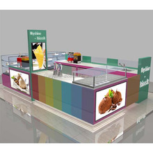Customize 3d ice cream kiosk design and ice cream kiosk for sale