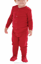260g 100% cotton fall and Christmas dropseat onesie baby sleeper