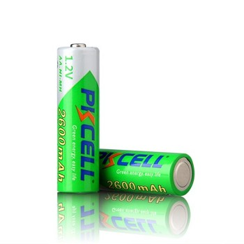 High quality PKcell Precharged Ni-Mh AA 2600mAh 1.2V battery