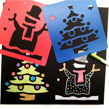hot sell custom children's color copying pp board for Christmas gift