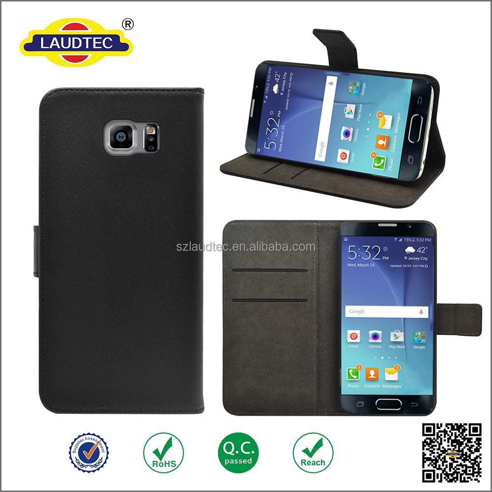Newest PU Leather Flip Wallet Case with Stand For Samsung Galaxy Note 5