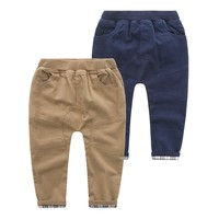 Cheap Wholesale Korean Style Child Clothing Boys Outdoor Warm Pants For Kids