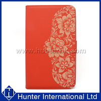 Flower Design PU Leather Tablet Case For iPad Air