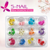 Newest popular nail art decoration, 100% natural nail art dried flowers nail beauty DIY wholesale supplier