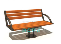 Outdoor Colorfast Leisure Plastic Wood Park Bench