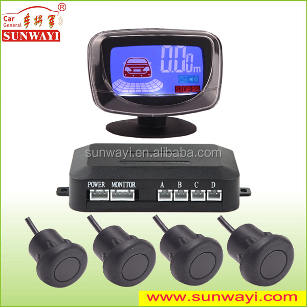 High Quality Backup Radar Reverse Sound Alert LCD Parking Sensors Detect Distance 0.3 to 2.5m
