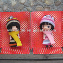 Wearing scarf 12cm small baby dolls wholesalers