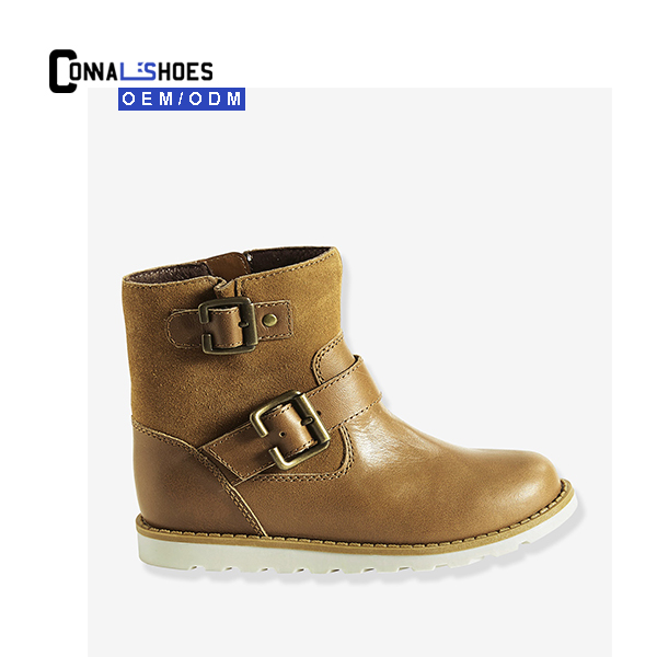 Connal Hot Selling Active leather boots winter kids botas