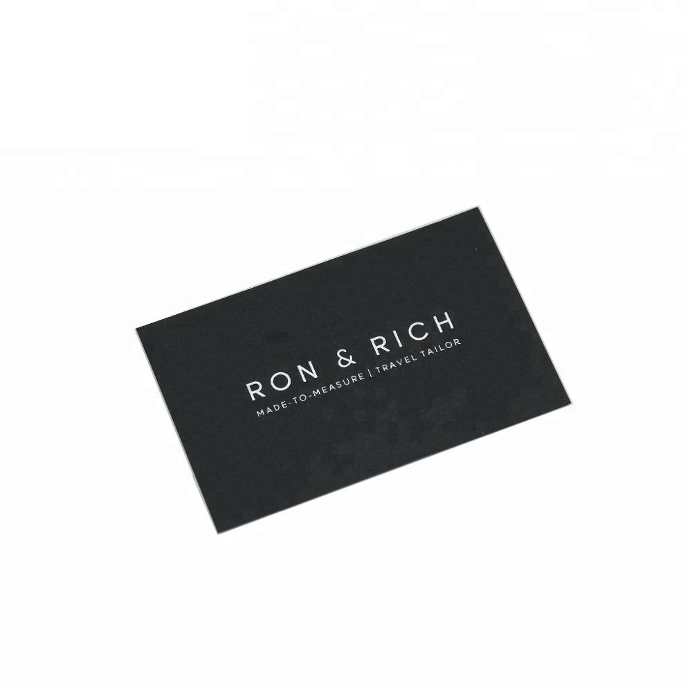 Promotional black paper silver stamping business card with custom design