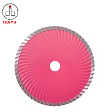 Segment continuous rim strong turbo laser 350mm diamond saw blade for marble