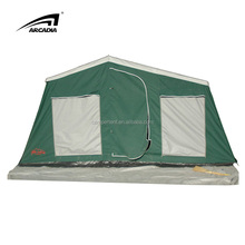 Popular waterproof steel frame mongolian trailer tent innovative products for outport