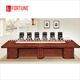 Custom design luxury wooden meeting table mesa de conference room furniture(FOH-C6041)