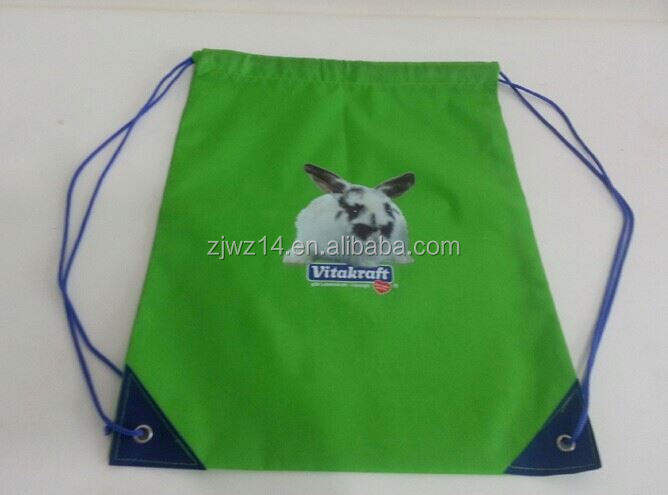2015 cheap fashion custom polyester shopping bag with long handles
