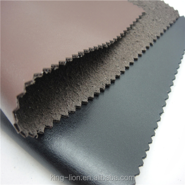 Good price pu flocking leather fabric shoe material