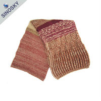 Factory direct low price for women neck scarf knitting pattern pattern jacquard scarf