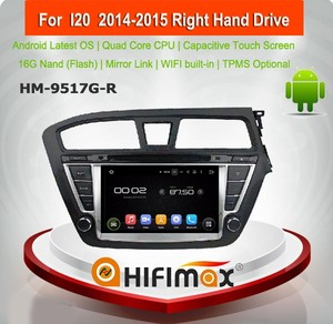Hifimax Android 5.1 car dvd player for Hyundai I20 car radio car stereo car audio car dvd gps for hyundai ix20 2014 2015